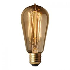 VK Λάμπα Διακοσμητική 40W E27 ST58 Dimmable Keep The Lights On, Light Bulb, Lighting, Home Decor, Decoration Home, Room Decor, Light Globes, Lights, Home Interior Design