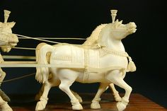 Ex. rare Ivory Kuruksherta Chariot, India, C.1800 Truck Transport, February 1, Ganesh, View Image, Sculptures, Elephant, Auction, Ivory, Carving