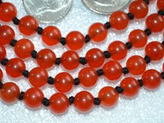 Red Jade Hand Knotted Mala Beads Necklace -Energized Karma, Nirvana Me – AwakenYourKundalini