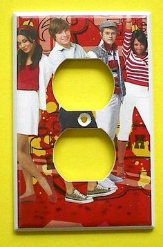 HSM High School Musical OUTLET Switch Plate switchplate #4 . $7.99