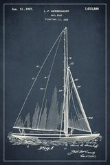 Sailboat Invention Patent Art Poster Print