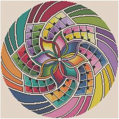 Mandala 15 Intention Counted Cross Stitch Pattern