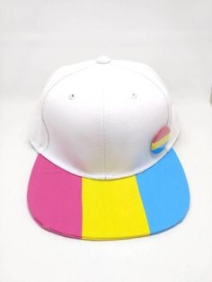df09ea4a7d706 Pansexual Pride Flag Snapback Hat LGBTQA Pansexuality Pan