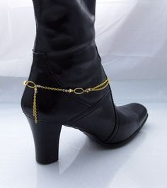 Sassy Classy Swarovski crystal boot anklet by blingbychristine, $12.00