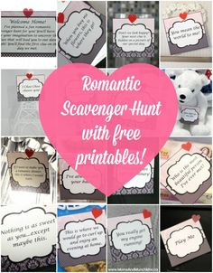 These fun ideas for a romantic scavenger hunt are a great way to plan a creative date! With these sample clues, you'll find this one easy to plan.