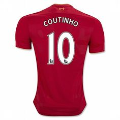 Cheap 2016 2017 Liverpool FC 10 Philippe Coutinho Home Football Soccer Jersey In Red For New Season Father day sale