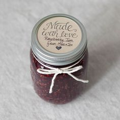 Truly Made with love! This hand lettered stamp can be stamped on stickers on the front of any jar or on labels for the lids of a standard mason jar! Filled with jelly or jelly beans! This rubber stamp