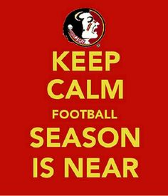When Stressed Keep Calm And Watch FSU Football <3