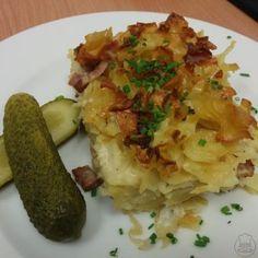 Šunkofleky - Šunkofleky aneb zapékané těstoviny s uzeným masem Pork Tenderloin Recipes, Gnocchi, Baked Potato, Potatoes, Healthy Recipes, Baking, Ethnic Recipes, Food, Diet