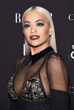 Rita Ora flaunts cleavage in plunging gown at Harper's Bazaar bash Lingerie Photos, Lingerie Models, Hot Lingerie, Make Up Tutorial, Rachel Roy, Cool Hairstyles, Hair Makeup, Curvy, Beautiful Women