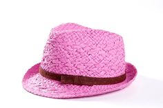 Fedora hat for women  Sun hat  Pink hat decorated by LeopardValley