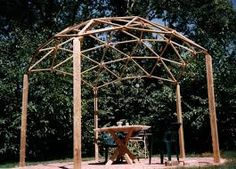 A Geodesic Dome Pergola - Carter can make this for your wedding arch!