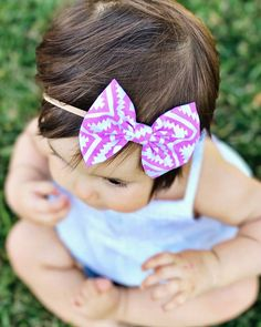 FINAL SALE Set # : bows} pink aztec, gray linen & black lines Baby Bows, Baby Headbands, Fabric Hair Bows, Handmade Baby Clothes, How To Make Bows, Northern California, Fabric Material, Aztec, Final Sale
