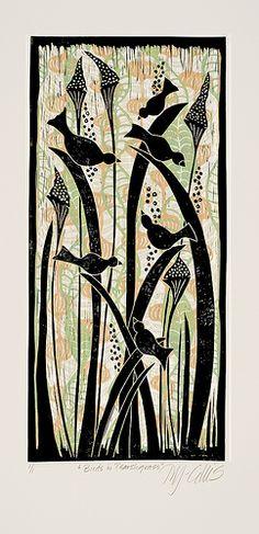 Birds in Marsh grass  by Mariann Johansen-Ellis