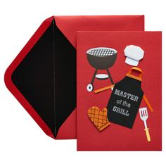 d05d2160a9161e Papyrus Master of the Grill Father s Day Card with Foil