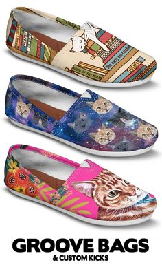 Are you a crazy cat lady? If you love cats, we have something for everyone! Find a design you'll love that looks like your cat. With shoes, socks, bags and more, you're sure to make any cat lover delirious with joy! Cat Shoes, Sock Shoes, Shoe Boots, Dog Mom, Shoe Art, Painted Shoes, Cat Gifts, Crazy Cat Lady, Things To Buy