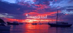 """""""Harbour Sunset"""" by Gregory Scott, Port of Spain // Imagekind.com – Buy stunning, museum-quality fine art prints, framed prints, and canvas prints directly from independent working artists and photographers."""