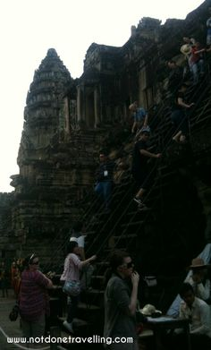Stairs to the very top of Angkor Wat. Cambodia Travel, Angkor Wat, Stairs, Walking, Top, Stairway, Staircases, Stairways, Walks