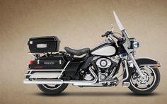 2013 Harley-Davidson FLHP Road King Police #motorcycles