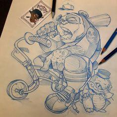 La vida panda  #ozer #tattoo #tatouage #ironink #ironinktattoo #loveletters #nantes #naoned #ozertattoo #panda #gangsta #cholo