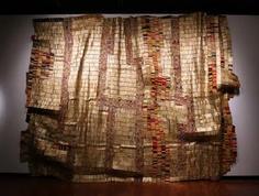 """El Anatsui, """"Versatility"""". Aluminum and copper wire, 2006."""