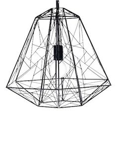 Switched On // This geometric powdercoated Hive pendant light reminds us of the Eiffel Tower made.com