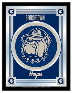[[start tab]] Description The perfect way to show your Georgetown University Hoyas pride, our Logo Mirror displays the Hoyas symbols with a style that fits any setting. With it's simple but elegant de