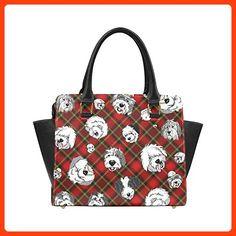 InterestPrint Custom Classic Shoulder Handbag Red Plaid Faces Shoulder Bag For Women (*Partner Link)