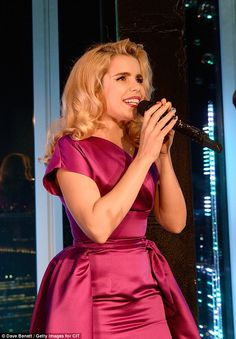 Bright and bubbly: She wore rainbow-coloured fingernails with contrasting tips Paloma Faith, Faith In Love, Satin Gown, Simple Style, Contrast, Glamour, Female, Formal Dresses, How To Wear