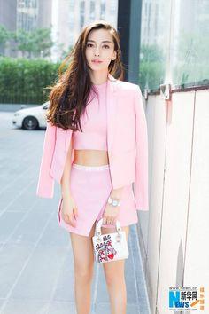 Street shots of Angelababy Fashion 2017, Girl Fashion, Womens Fashion, Angelababy, Cute Beauty, Chinese Actress, Stylish Girl, Asian Fashion, Asian Girl