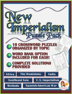 New Imperialism Worksheet Puzzle: U. Vocabulary Worksheets, Printable Worksheets, Kindergarten Worksheets, Cooperative Learning, Fun Learning, Crossword Puzzles, Get Free Stuff, Test Prep, Teaching Materials