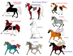 Specialty Horses by KTLasair.deviantart.com on @DeviantArt