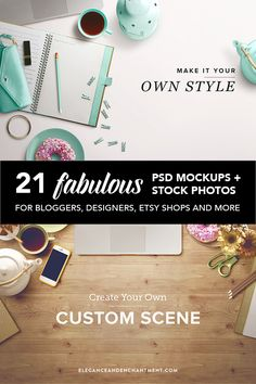 21 Fantastic Mockups and Stock Layouts - Eliminate the need for expensive photo equipment or a photographer. Style your own photos right from your computer! Web Design, Design Sites, Design Blog, Design Tutorials, Layout Design, Branding, Photoshop, Photo Equipment, Tips & Tricks