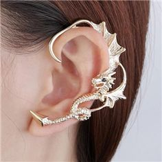 Vintage Punk Style Dragon Cuff Earrings from EricDresses on less price. Use coupon and promotional codes.