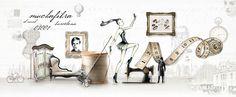 Carmen Virginia Grisolia on Behance  Muchafibra Fashion Branding  Barcelona, Spain  Fashion Illustration, Web design
