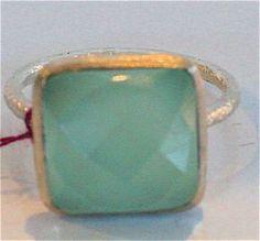 Aqua Chalcedony Ring by SoHo Arts Company - $55.00. Sizes 6, 7, and 8. Soho, I Shop, Aqua, Rings, Shopping, Water, Ring, Small Home Offices, Jewelry Rings