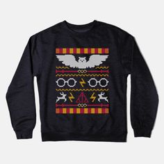 The Sweater That Lived - Harry Potter Ugly Christmas Sweater Crewneck