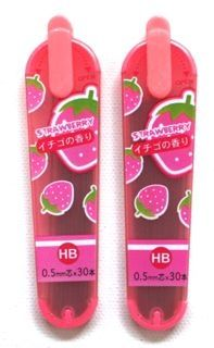 Scented Mechanical Pencil Lead - Strawberry--other scents available too! i want it now!!!!!!!!!!!!!!!!!