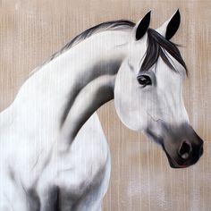 Le Pur Sang Arabe - Peinture d'un cheval Arabe