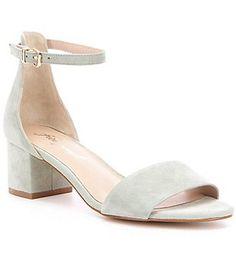 Free People Marigold Leather Banded Ankle Strap Block Heel Dress Sandals