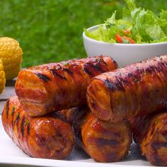 corn from the grill Only needs 4 ingredients: hot grilled bacon corn.Only needs 4 ingredients: hot grilled bacon corn. Grilling Recipes, Cooking Recipes, Healthy Recipes, Grilling Corn, Healthy Food, Potato Recipes, Chicken Recipes, Bacon On The Grill, Pork Recipes
