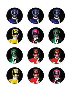 Power-Rangers-edible-party-cupcake-toppers-decoration