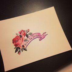 Viva la Frida! #VivalaFrida #FridaKahlo #rose #watercolortattoo #sashaunisex  @cheked