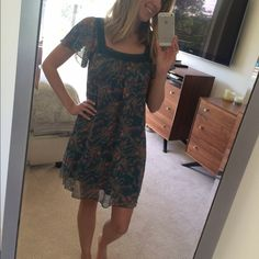 EUC Floral Paisley Dress - S One of my personal favorite dresses. GORGEOUS color and super sweet cut. EUC. Price firm, no trades please. Thx!  Dresses