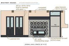 Whitney House Kitchen Range Elevation