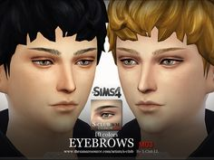 Male eyebrows for you , 10 colors inside, enjoy it!  Found in TSR Category 'Sims 4 Facial Hair'