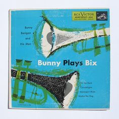 Bunny Plays Bix LP cover, 1955. Illustrator unknown.