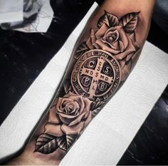 Forearm Sleeve Tattoos, Leg Tattoo Men, Arm Tattoos For Guys, Future Tattoos, Leg Tattoos, Body Art Tattoos, Tattos, Christ Tattoo, Jesus Tattoo