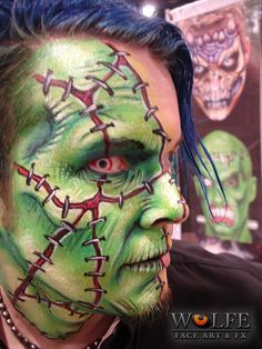 Face paintings created using Wolfe Face Art & FX's Hydrocolor Make-up   Make Up Brush Sets