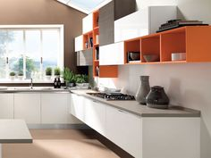 ESSENZA Fitted kitchen by LUBE INDUSTRIES S.R.L.